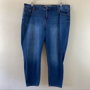 Torrid Mid Blue High-Waist Skinny Ankle Denim Jean
